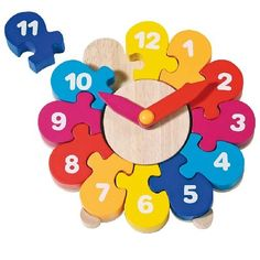 Colourful Wooden Clock puzzle