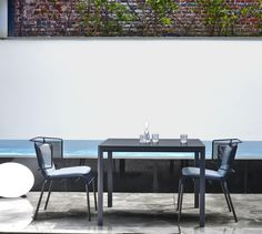 Fifty chair by Ligne Roset Outdoor Armchair, Outdoor Dining Chairs, Dining Table, Fabric Structure, Ligne Roset, Contemporary Furniture, Indoor Outdoor, Studio, Inspiration