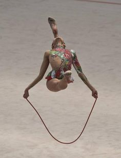 Andrea Pozo, equipo junior de la seleccion española (abril 2011) #rhythmic #gymnastics