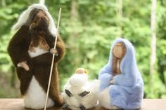Waldorf Inspired Needle Felted Nativity Set by TheMagicalToadstool