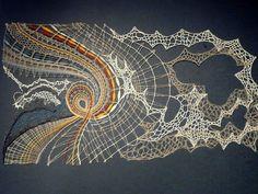 Lace Art, Bobbin Lace Patterns, Form Crochet, Textile Fiber Art, Lacemaking, Textiles, Lace Jewelry, Needle Lace, Lace Design