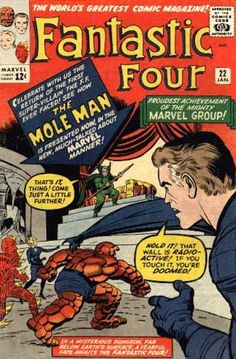 Mole Man - Mr Fantastic - Thing - Human Torch - Fantastic Four - Jack Kirby