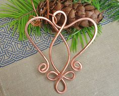 New in our Etsy shop! Copper Celtic Angel Heart Ornament  Christmas by nicholasandfelice