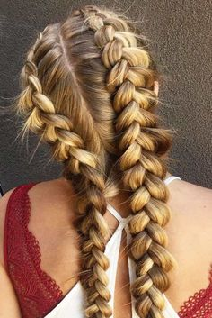 Braided Hairstyles: Styling Options for Double Dutch Braids ★ See more. Frisuren, Braided Hairstyles: Styling Options for Double Dutch Braids ★ See more. Box Braids Hairstyles, Kids Braided Hairstyles, Hairstyles For School, African Hairstyles, Cool Hairstyles, Hairstyles Videos, Hairstyles Pictures, Teenage Hairstyles, Medium Hairstyles