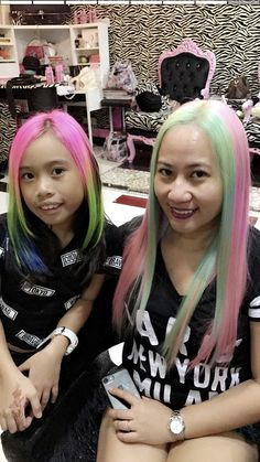 #mom&daughter #ladies #mydubai #asian #filipina #beauties #beautiful #gurljustwannahavefun #hairfashion #rainbow #unicorn #candy #cottoncandy #crazcolors #dubai #abudhabi #mydmcc #uae #instalike #uae🇦🇪
