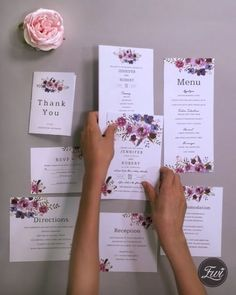 spring magenta shades of purple wedding invitations Magenta shades of purple floral wedding invitations with matching cards STEP-BY-STEP INSTRUCTIONS and PHOTOS to K. Chinese Wedding Invitation Card, Wedding Invitation Video, Purple Wedding Invitations, Wedding Menu Cards, Wedding Stationary, Wedding Programs, Lilac Wedding, Wedding Name, Diy Wedding