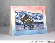 Card by Heather Telford using Darkroom Door Lake Wanaka Photo Stamp