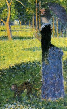 Georges Seurat: 1884 Woman with a Monkey - Smith College Museum of Art ...
