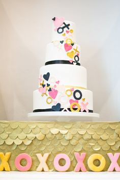 Kate Spade-Inspired Wedding Cake