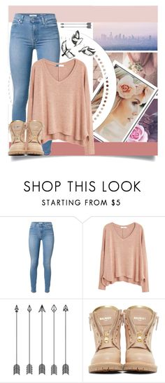 """november"" by jfgs ❤ liked on Polyvore featuring MANGO and Balmain"
