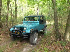 blue jeep wrangler | 1995 Jeep Wrangler