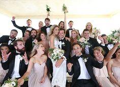 Lauren Conrad's bridesmaids and groomsmen.