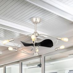 Latitude Run It is a combination of a unique modern chandelier and a ceiling fan, ideal for a small room. Whisper wind motor delivers ultra-powerful air movement with whisper-quiet performance so you get the cooling without any noise. Ceiling Fan Chandelier, Flush Mount Ceiling Fan, Ceiling Fan With Remote, Modern Chandelier, Ceiling Lights, Unique Ceiling Fans, Outdoor Ceiling Fans, Modern Ceiling, Transitional Ceiling Fans
