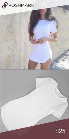 White tight t-shirt dress  Cute tight white t shirt dress. Brand new Dresses Mini