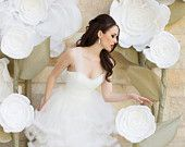 Giant paper flower decoration. Shop window display As seen on the cover of Phoenix Bride and Groom Magazine sf2014