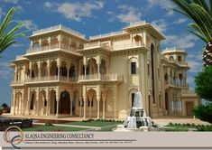 villa on Behance Mughal Architecture, Architecture Building Design, Architectural Design House Plans, Modern Architecture, Luxury Homes Dream Houses, Moorish, Exterior Design, Beautiful Homes, House Design