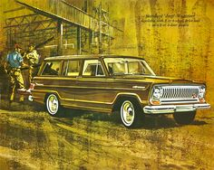 Standard 'Jeep' Wagoneer. Available with 2 or 4-wheel drive and as a 2 or 4-door wagon.