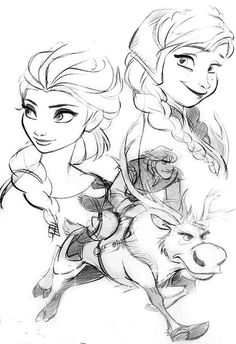 I think these were some concept arts for Frozen, not too sure though