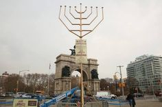 Two rabbis claim to have built world's largest menorahs