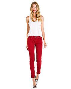 Textile by Elizabeth and James 'Debbie' Red Stripe Skinny Jean