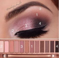 Trendy makeup tutorial ojos urban decay make up Makeup Eye Looks, Eye Makeup Steps, Eyebrow Makeup, Skin Makeup, Beauty Makeup, Easy Eye Makeup, How To Makeup, Simple Eyeshadow Looks, Pretty Eye Makeup