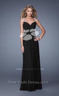 Artful sleeveless gown with elegant embellishments by La Femme 21021