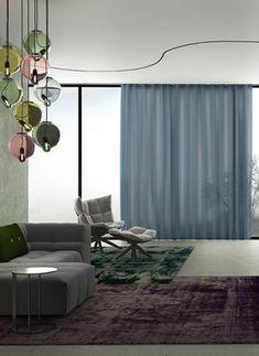 Mizu  | Inbetween | Kendix | Kunst van Wonen Curtain Fabric, Curtains, House Colors, Color Inspiration, Townhouse, This Is Us, Ceiling Lights, Design, Furniture