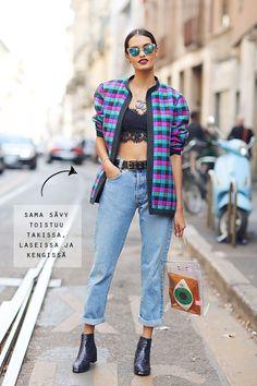 Street Style, Spring Summer 2015, Milan Fashion Week, Italy - 21 Sep 2014