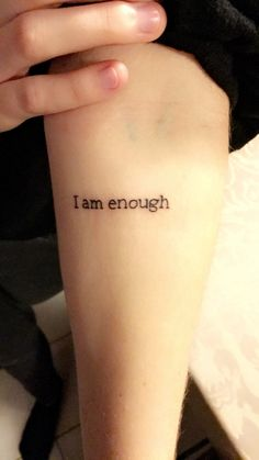 I am enough tattoo