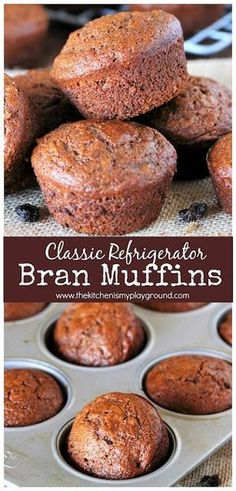 Classic Refrigerator Bran Muffins with Raisins Packed with fiber & flavor! A p - Refrigerator - Trending Refrigerator for sales. - Classic Refrigerator Bran Muffins with Raisins Packed with fiber & flavor! A perfect breakfast or anytime snack. Muffin Tin Recipes, Cereal Recipes, Raisin Bran Muffins, Bran Muffins With Raisins, Bran Muffin Recipe Using Bran Flakes, Fiber One Muffins Recipe, Gourmet Recipes, Baking Recipes, Brunch Recipes