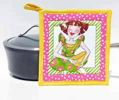 A personal favorite from my Etsy shop https://www.etsy.com/listing/513311374/apron-ladies-pot-holdermug-rug-quilted