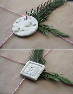 diy clay tags // little house blog