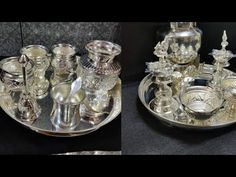 Latest Silver plate for pooja designs // Silver pooja items collection // silver pooka items // Silver Pooja Items, Instagram Collage, Pooja Room Door Design, Puja Room, Silver Gifts, Beauty Routines, Necklace Designs, Indian Jewelry, Silver Plate