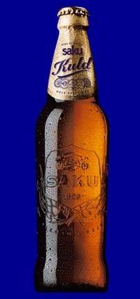 Cerveja Saku Kuld, estilo Standard American Lager, produzida por Saku Brewery, Estônia. 5.2% ABV de álcool.