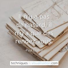 Techniques de Visualisation - Citation - Paul Éluard