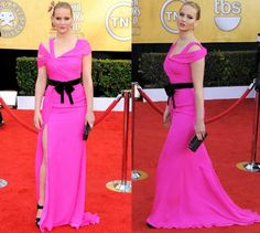 """<b>WORST:</b> Jennifer Lawrence<br> Yikes! 'Best Actress' nominee Jennifer Lawrence steals the spotlight (and not in a good way) in this hot pink Oscar de la Renta concoction. Sometimes less is more ...   <br><Br>Follow our galleries on Twitter <a href=""""http://twitter.com/#!/NYDNPhotos"""" target=""""_blank"""">@NYDNPhotos.</a>"""