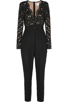 Love the Lanvin Guipure lace jumpsuit on Wantering. Lace Jumpsuit, Floral Jumpsuit, Lace Romper, Chic Outfits, Fashion Outfits, Womens Fashion, Dress Suits, Dresses, Elegant Outfit