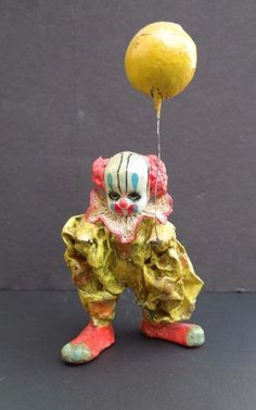 Vintage 1979 Creepy Gothic (Chucky)  Circus Clown Statue Signed ANA Bick