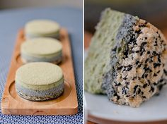 Such a fantastic blend of colours and Asian flavours at work here: Matcha Sesame Cheesecake.