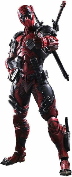 Square Enix Marvel Universe Variant Deadpool Play Arts Kai Action Figure From Square Enix. Deadpool, based on Marvel Comics, Marvel Heroes, Marvel Avengers, Deadpool Comics, Dead Pool, Deadpool Film, Deadpool Photos, Deadpool Superhero, Anime Superhero
