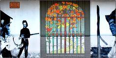 """Denied Your Heaven,"" (Ennis, MT). Nance Van Winckel considers the abandoned urban landscape a type of frontier for graffiti artists. Her photo gallery is available online in ARTerrain: http://terrain.org/2014/arterrain/western-facades"