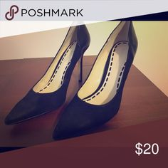 Enzo Angiolini Black Suede Heels, 8 Only worn a few times, beautiful black suede heel, size 8. Enzo Angiolini Shoes Heels