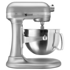 @Overstock.com - KitchenAid KP26M1XNP Nickel Pearl 6-quart Pro 600 Bowl-Lift Stand Mixer *With Bonus Rebate Item* - Enjoy cooking like a professional chef with this metal stand mixer by Kitchen Aid. The professional-quality, 10-speed mixer is finished in a nickel pearl color. It includes a six-quart stainless steel bowl and three different attachments…
