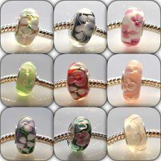 brass single core lampwork beads charms for european style bracelet