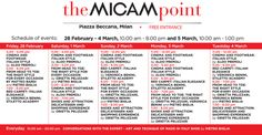 theMICAMpoint 2014 - the schedule of events