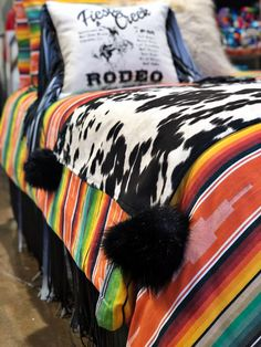 Big Balls in Cowtown Bed Runner – Red Dirt Revivals Cowgirl Bedroom, Western Bedroom Decor, Western Rooms, Country Girl Bedroom, Western Bedding Sets, Teen Bedding, Bed Runner, Dream Rooms, Dream Bedroom