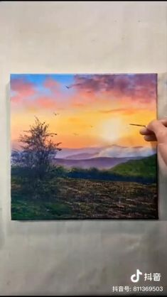 Canvas Painting Tutorials, Acrylic Painting Lessons, Acrylic Painting Canvas, Watercolor Landscape Paintings, Landscape Art, Link, Health Education, Physical Education, Art Education
