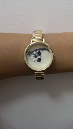 Upstyled Picture Watch Bracelet  Skull by WhiskeyFromATeaCup, $25.00