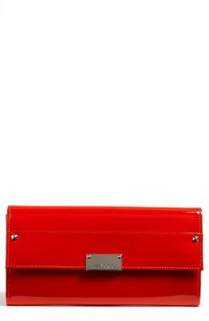 Jimmy Choo 'Reese' Patent Leather Clutch available at #Nordstrom