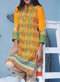 Buy Pakistani Designer Top Kurtis/Tunics Online - with best custom size tailoring service and worldwide shipment service. Latest Pakistani Dresses, Tunics Online, Pakistani Designers, Party Fashion, Kurti, Mustard, Party Dress, Blouse, Clothes
